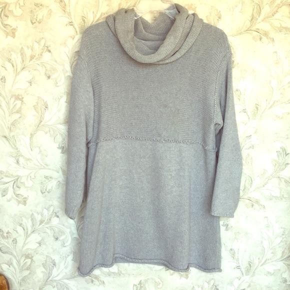 6a229140ba1 J. Jill Sweaters   J Jill Rollneck Tunic Sweater W Removable Collar ...